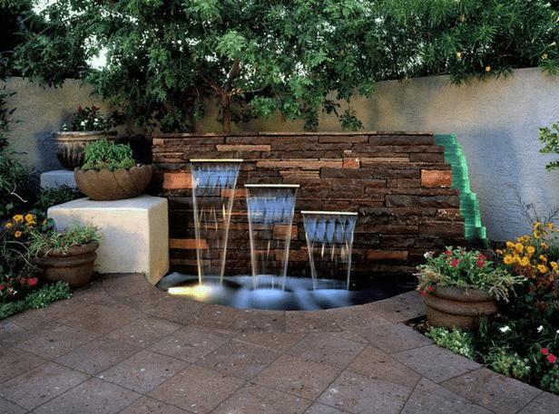 water feature garden design