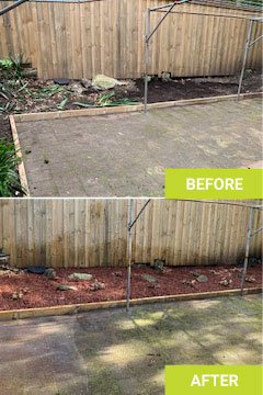 landscaping rockley before after
